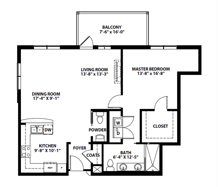 "ONE-BEDROOM ""A.2"""