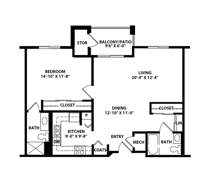 "ONE-BEDROOM ""D1"""