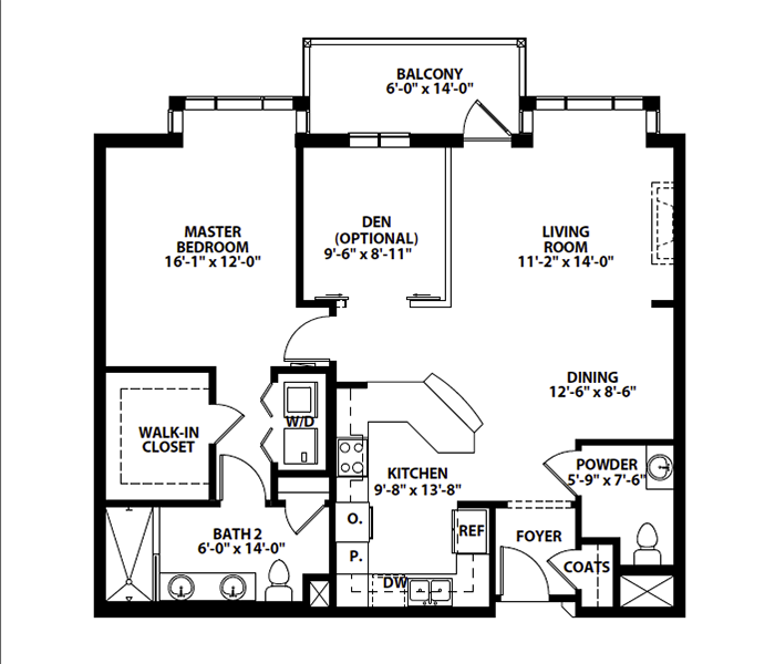 "ONE-BEDROOM + DEN ""B.1"""