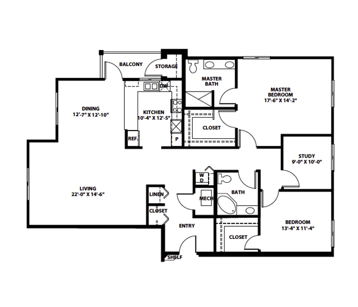 "TWO-BEDROOM + STUDY ""Q"""