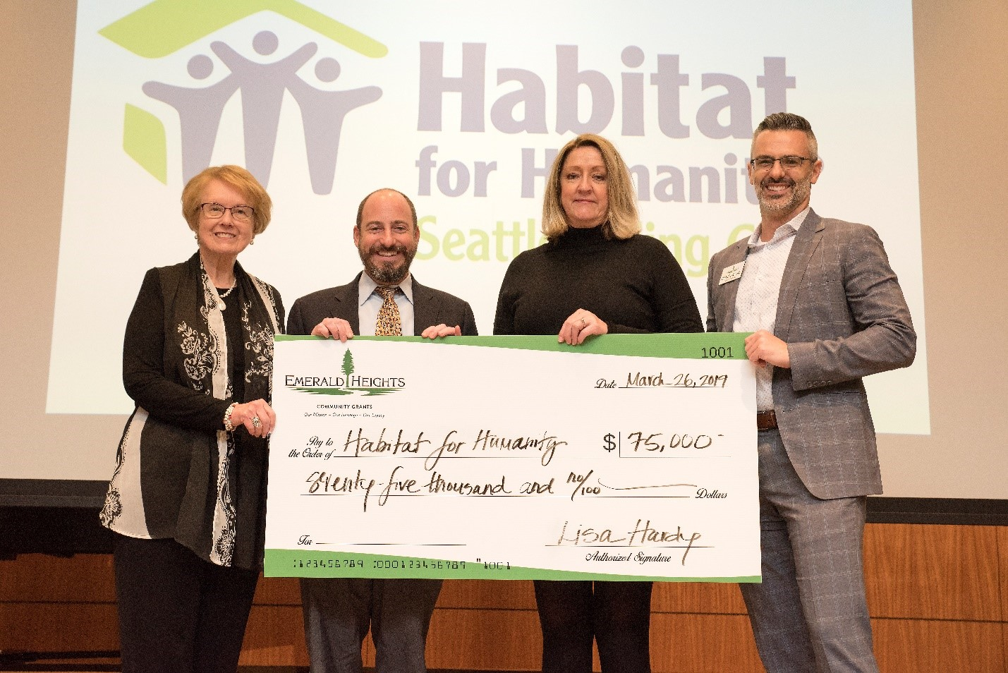 Emerald Heights Presents $260,000 to Nine Local Charities